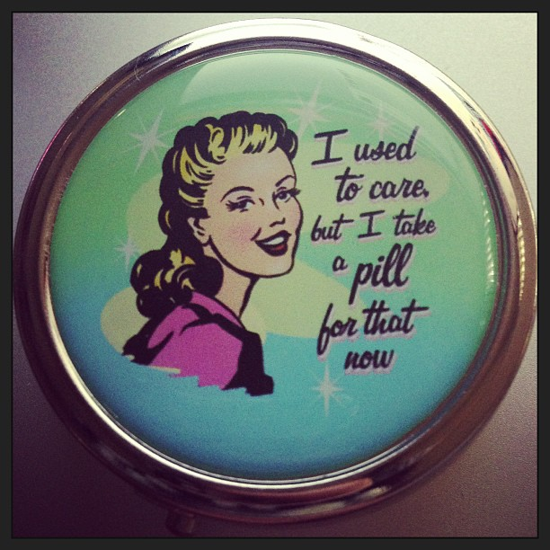 My new purse pill box. :-P